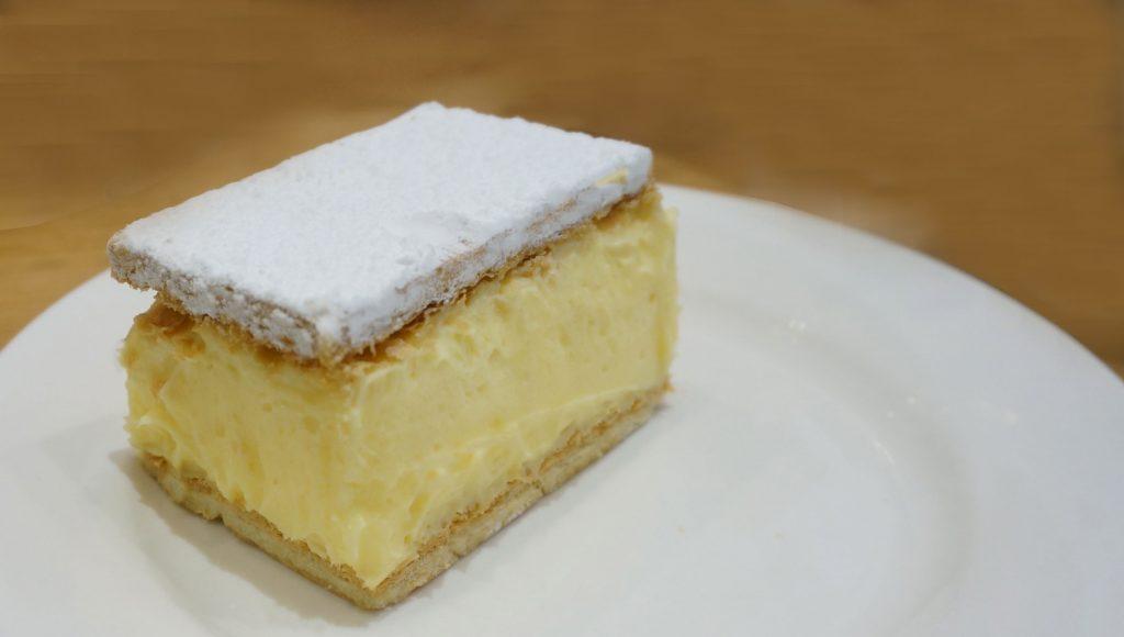 How to cut a Vanilla Custard Slice
