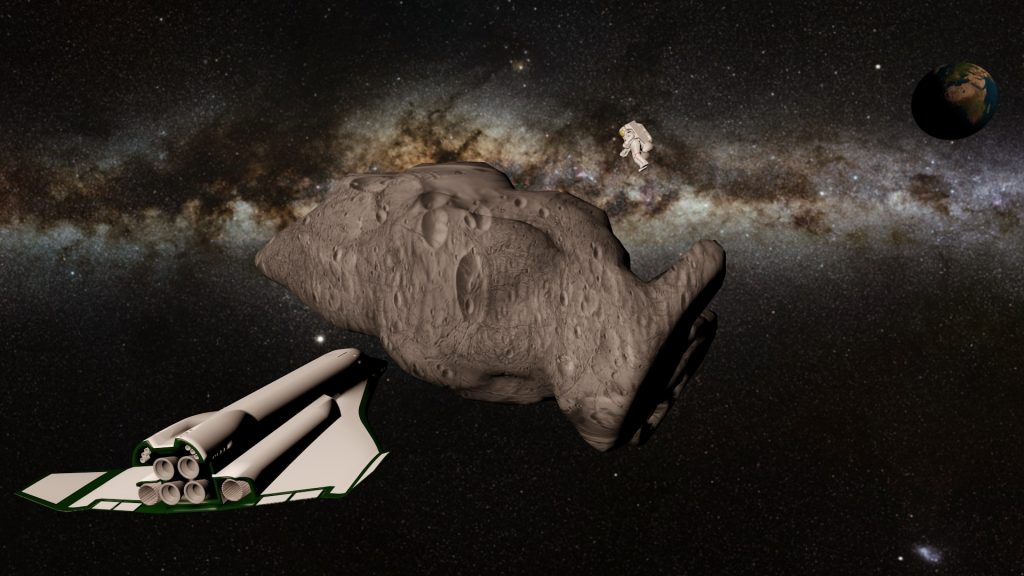 How to collect rock samples in space
